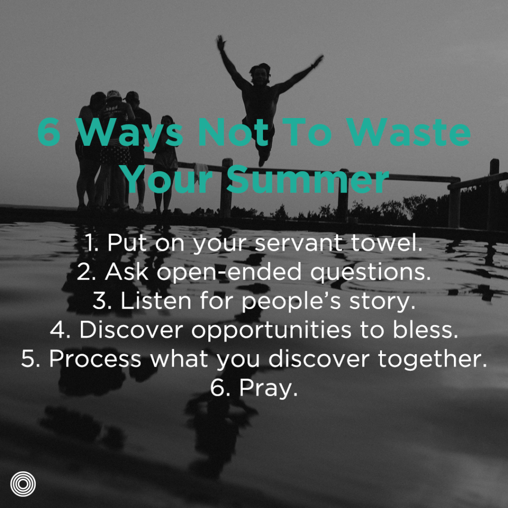 Six ways not to waste your summer - list