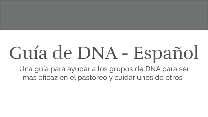 Spanish DNA Guide
