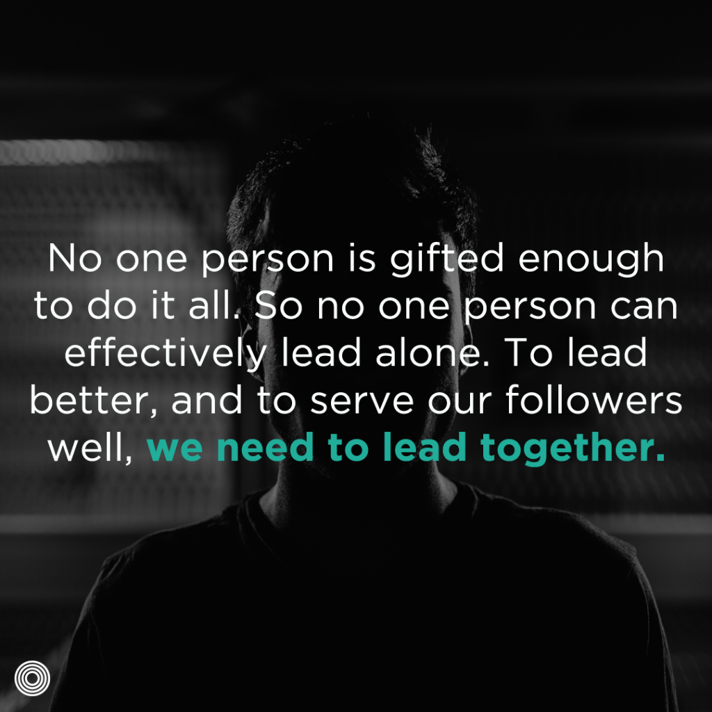 we need to lead together