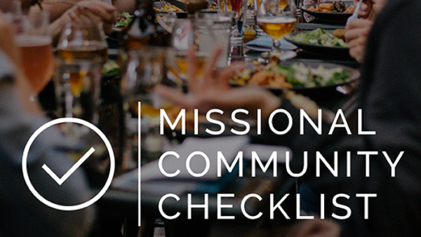 Missional Community Checklist | Saturatetheworld.com