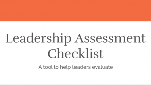 Leadership Assessment Checklist