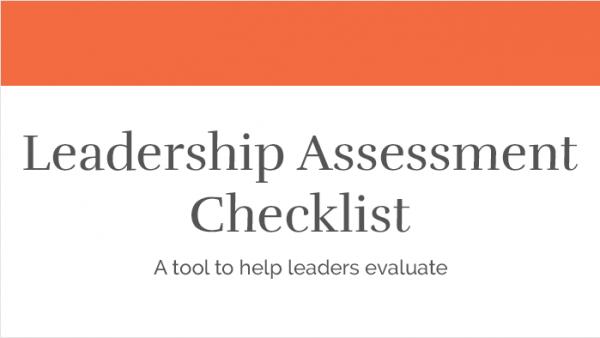 Leadership Assessment Checklist