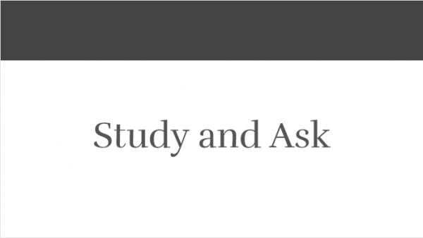 Study and Ask