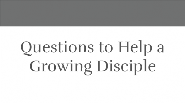 Questions to Help a Growing Disciple