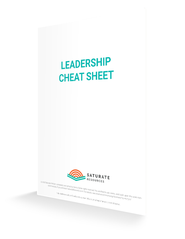 Leadership cheat sheet cover