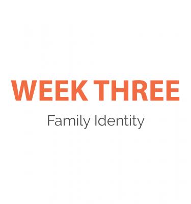Week 3 - Family Identity