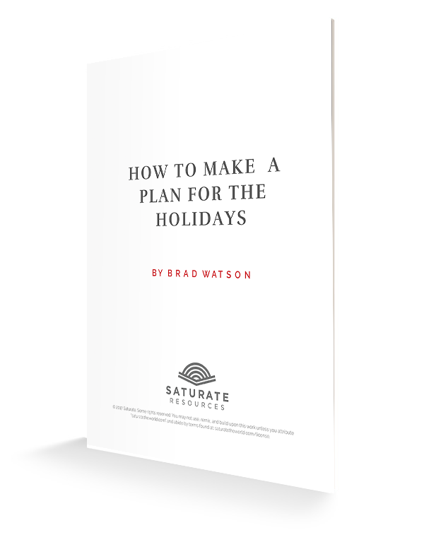 How to Make a Plan for the Holidays 3d cover
