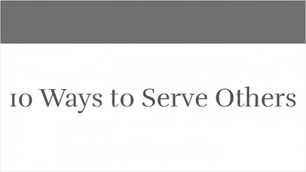 10 Ways to Serve Others thumb
