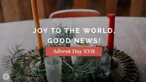 Joy to the World, Good News!