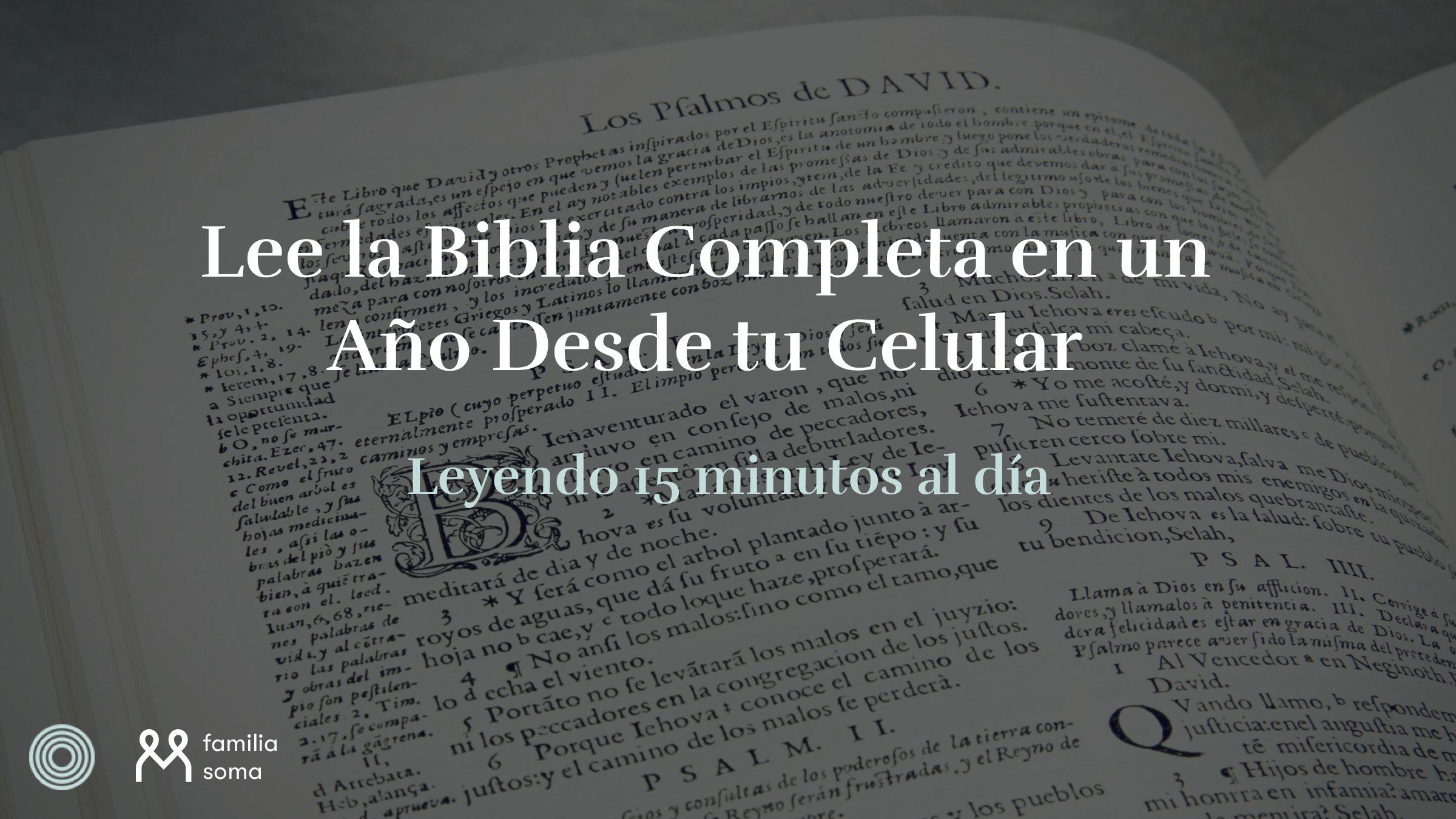 Lee La Biblia Completa